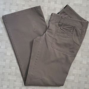 The Limited Stretchy Khaki Pants, Flared Boot Cut
